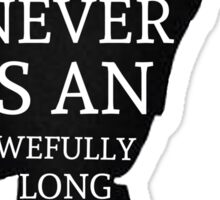 Peter Pan Quote Silhouette -- Never Is Sticker