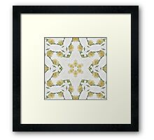Creamy Yellow Rose Kaleidoscope Art 2 Framed Print