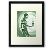 +secret of green power+ Framed Print