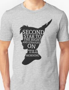 Peter Pan Quote Silhouette -- Second Star T-Shirt