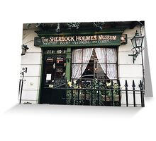 221B Baker Street, Good Evening Mr Holmes Greeting Card