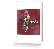 Street Fighter - Ryu poster Greeting Card