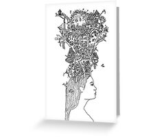 A head full of dreams Greeting Card