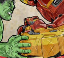 Hulk vs Hulkbuster Sticker