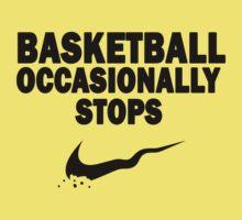 Basketball Occasionally Stops - Nike Parody (Black) Kids Clothes