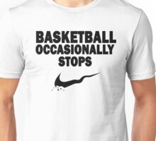 Basketball Occasionally Stops - Nike Parody (Black) Unisex T-Shirt