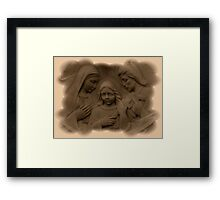 Mary and Joseph with Jesus As A Boy Framed Print