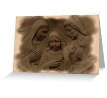Mary and Joseph with Jesus As A Boy Greeting Card