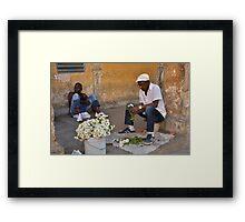 Havana Flower Vendor Framed Print