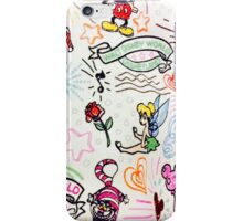 Disney sketch print iPhone Case/Skin