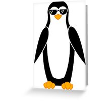 Cool Penguin Greeting Card