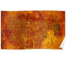Antique Runescape Map Poster