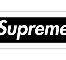 Supreme Black Box Logo Sticker
