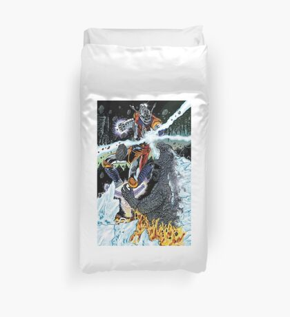 Battle Beneath The Earth Duvet Cover