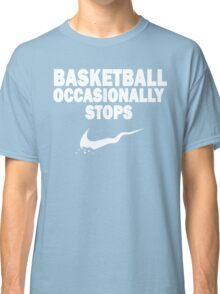 Basketball Occasionally Stops - Nike Parody (White) Classic T-Shirt