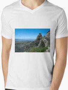 Mountains, Rocks and Sky Mens V-Neck T-Shirt