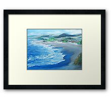 California Coastline painting Framed Print