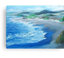 California Coastline painting Canvas Print