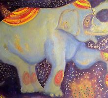 Elephant Abstract Print by Abstractable