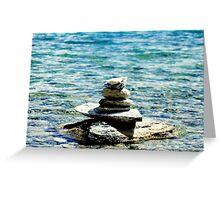 Zen in the water .. Greeting Card