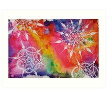 Tie-Dye Mandala Art Print