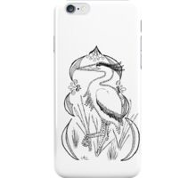 Heron with Decorative Frame iPhone Case/Skin