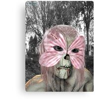 Pretty in Pink .. zombie in a mask Canvas Print