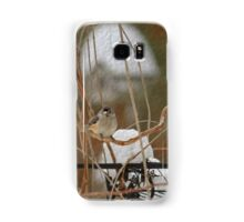 Winter Perch ~ Bird with Birdhouse ~ Digital Painting Samsung Galaxy Case/Skin