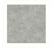 Silver Oil Pastel Color Accent Art Print