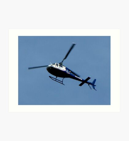 Life Flights  AS 350 (A-Star) Helicopter Art Print