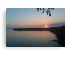 Sunset in the Marshlands Canvas Print