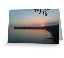 Sunset in the Marshlands Greeting Card