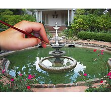 Oil on Fountain Photographic Print
