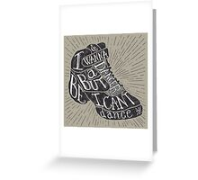 I can't dance Greeting Card