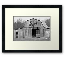 Old Barn with Horse and Buggy Framed Print