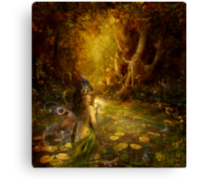 The secret pond Canvas Print