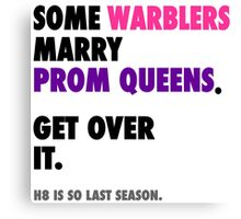 Glee - Some Warblers Marry Prom Queens Canvas Print