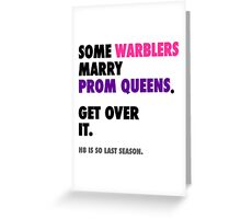 Glee - Some Warblers Marry Prom Queens Greeting Card