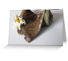 Flower and Rust Greeting Card