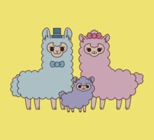 Cotton candy alpaca family Baby Tee