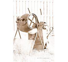 Cement Mixer © Vicki Ferrari Photographic Print