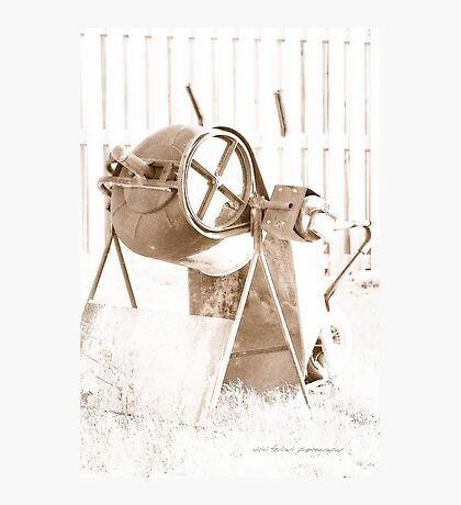 Cement Mixer © Vicki Ferrari Photographic Print