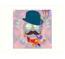 The Music Man - Abstract Art Art Print