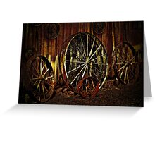 """""""Wagon Wheels under a Full Moon""""... prints and products Greeting Card"""