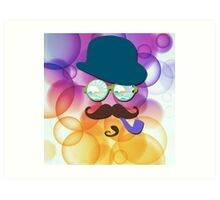 The Man in The Bubbles - Abstract art Art Print