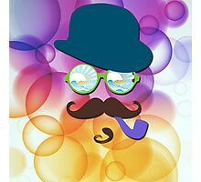 The Man in The Bubbles - Abstract art Photographic Print