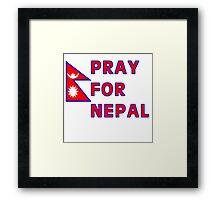 Pray For Nepal (Alternate Design) Framed Print