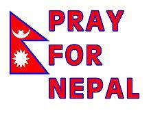 Pray For Nepal (Alternate Design) Photographic Print