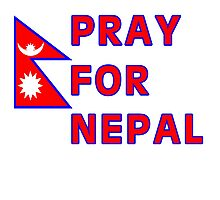Pray For Nepal (Alternate Design) Photographic Print