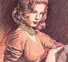 PORTRAIT OF LAUREN BACALL by monaruth